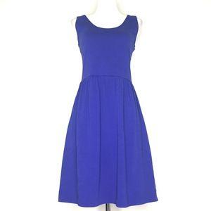 J. Crew Blue Scoop Neck Sleeveless Dress A150751